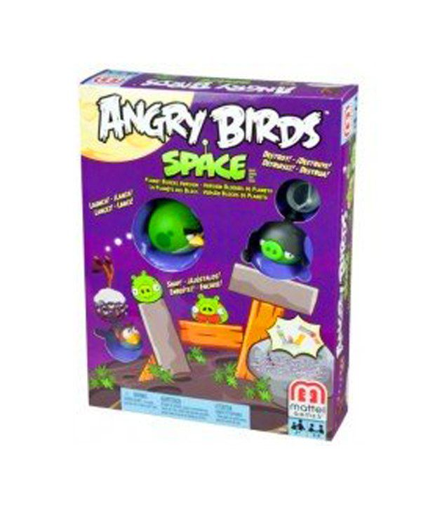 Angry Birds Space Toys : Mattel angry birds space planet block board game
