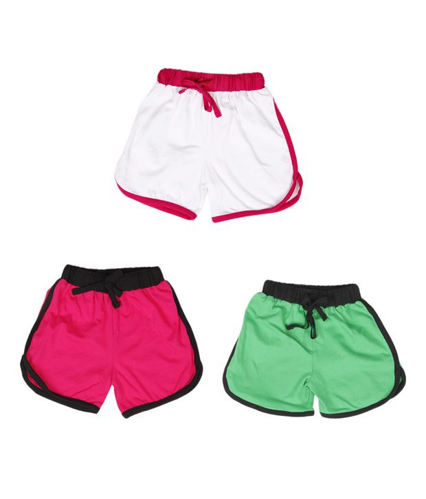 Robinbosky Beautiful Multicolour Pack of 3 Shorts For Kids