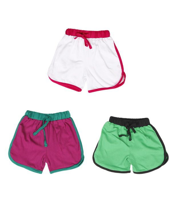 Robinbosky Charming Multicolour Pack of 3 Shorts For Kids