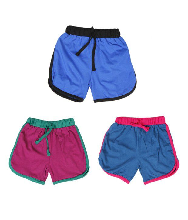 Robinbosky Graceful Multicolour Pack of 3 Shorts For Kids
