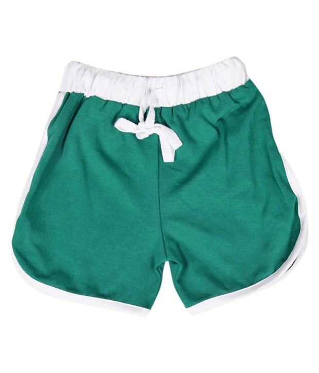 Robinbosky Leaf Green Shorts For Kids