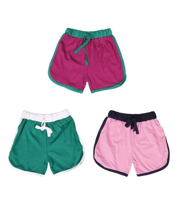 Robinbosky Plush Multicolour Pack of 3 Shorts For Kids