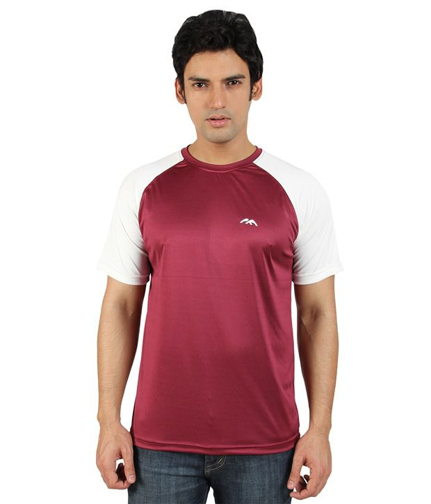 Go Untucked Sophisticated White And Maroon Jersey T Shirt