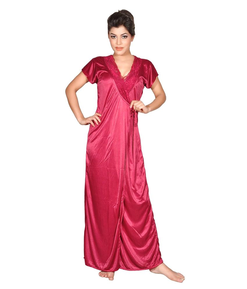 Buy Myra Red Poly Satin Nighty Online at Best Prices in India - Snapdeal 71b524574