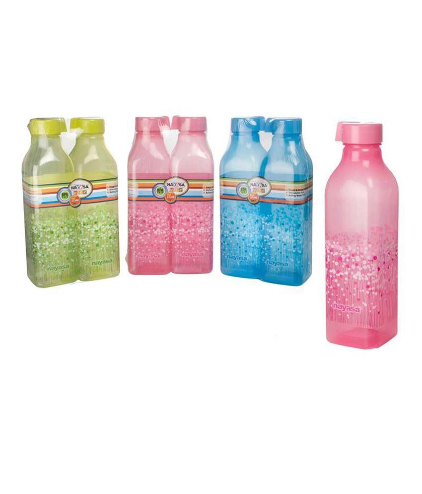 Nayasa Square Bottle Dlx 1000 ML - Set of 4