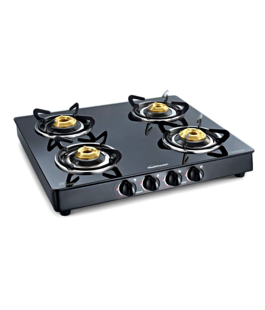 Sunflame Crystal 4 Burner BK Manual Gas Stove Price in India - Buy ...