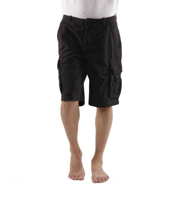 Wills Lifestyle Cool Black Bermuda Shorts