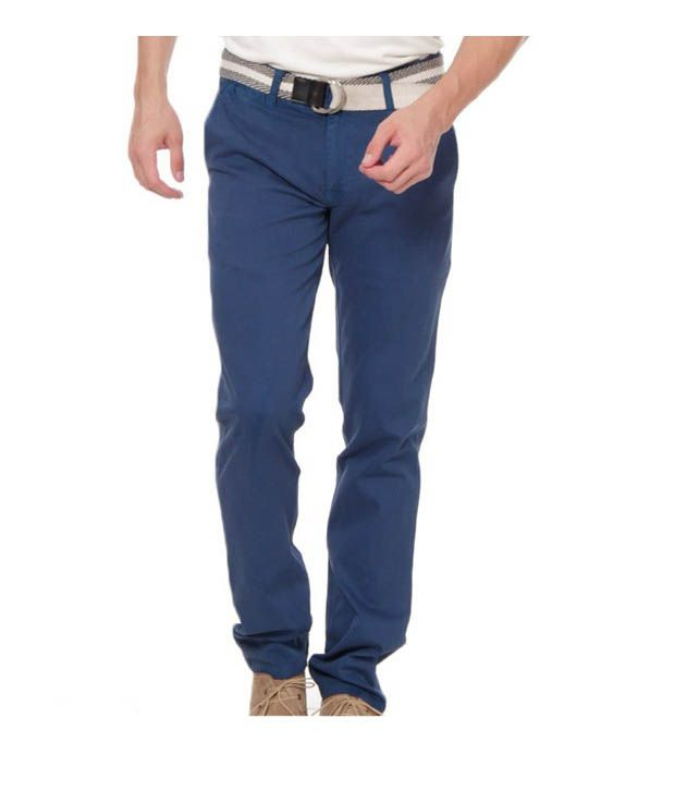 Harvest Deep Blue Chinos with Free Earphones