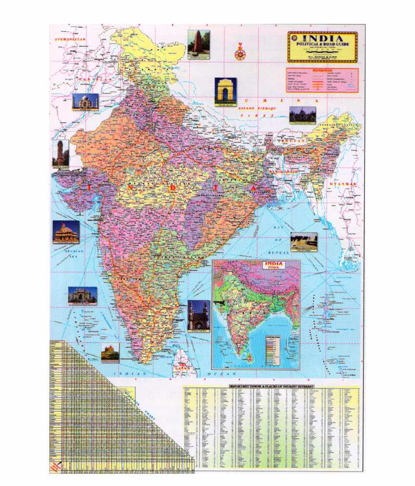 Pesa india political road guide map chart buy pesa india pesa india political road guide map chart gumiabroncs Images