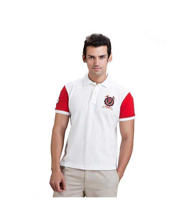 Proline White Polo T Shirt