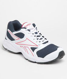 Reebok Smart White and Blue Sport Shoes