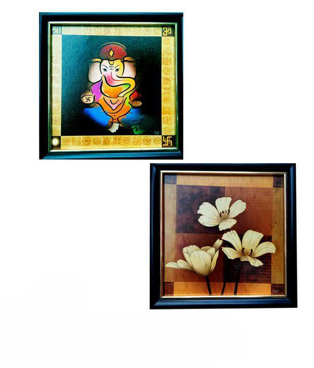 Big Fat Boy Floral Design Frame - Buy 1 Get 1 Free