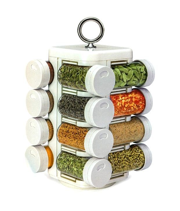 Gauba Traders 16 Jar Kitchen Mate Revolving Multipurpose Rack Buy Online At Best Price In India