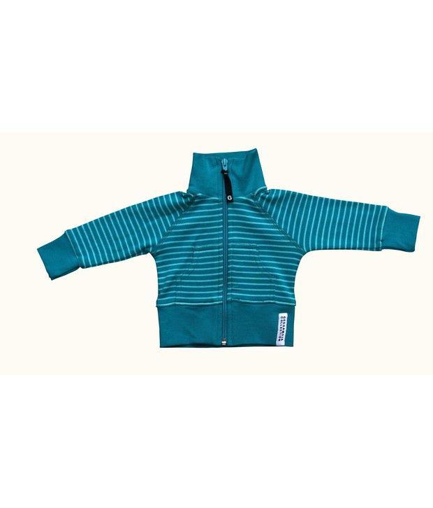 Gron Stockholm Geggamoja Full Sleeves Turquoise Color Jacket For Kids