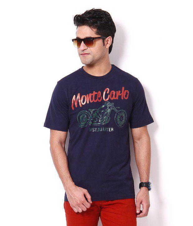 Plam Beach Smart Navy T Shirt