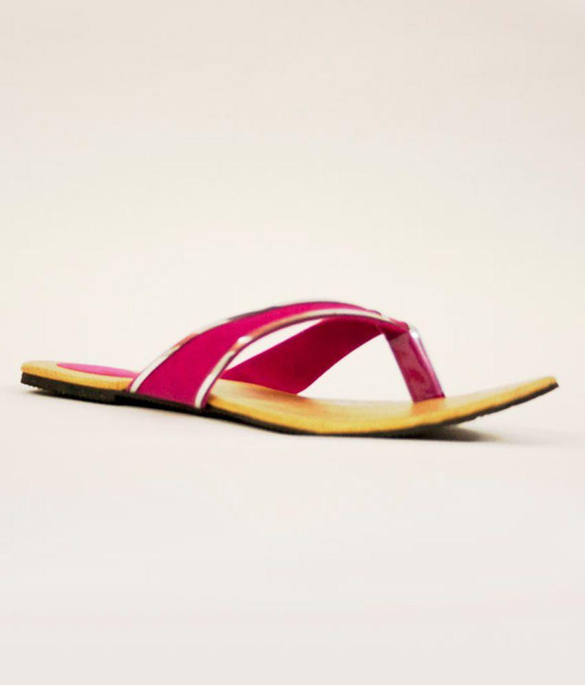 Aashka Pink Thong Flats