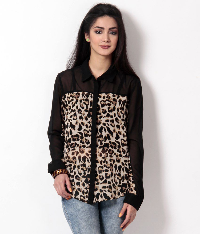 b565ac9223407 Buy Concepts Poly Georgette Animal Print Shirt Online at Best Prices in  India - Snapdeal