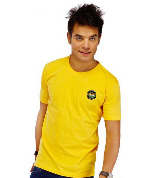 LanosUC Yellow Cotton T- Shirt