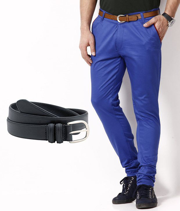 RPB Finest Royal Blue Chinos with Free Belt