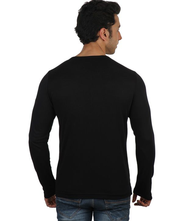 6c6bc2ed Rigo Black Full Sleeves Cotton Henley T-Shirt - Buy Rigo Black Full Sleeves  Cotton Henley T-Shirt Online at Low Price - Snapdeal.com