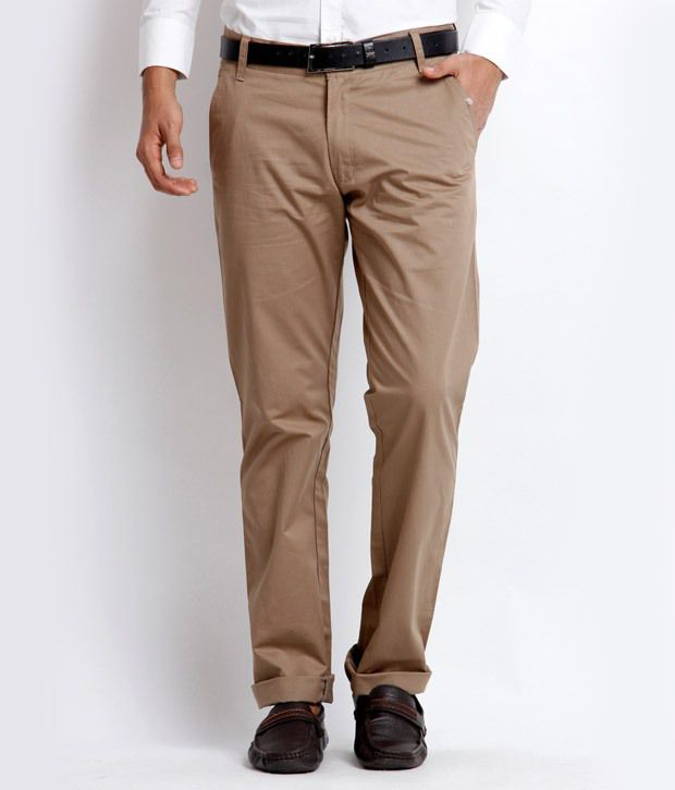 Skookie Brown Regular Casuals Chinos