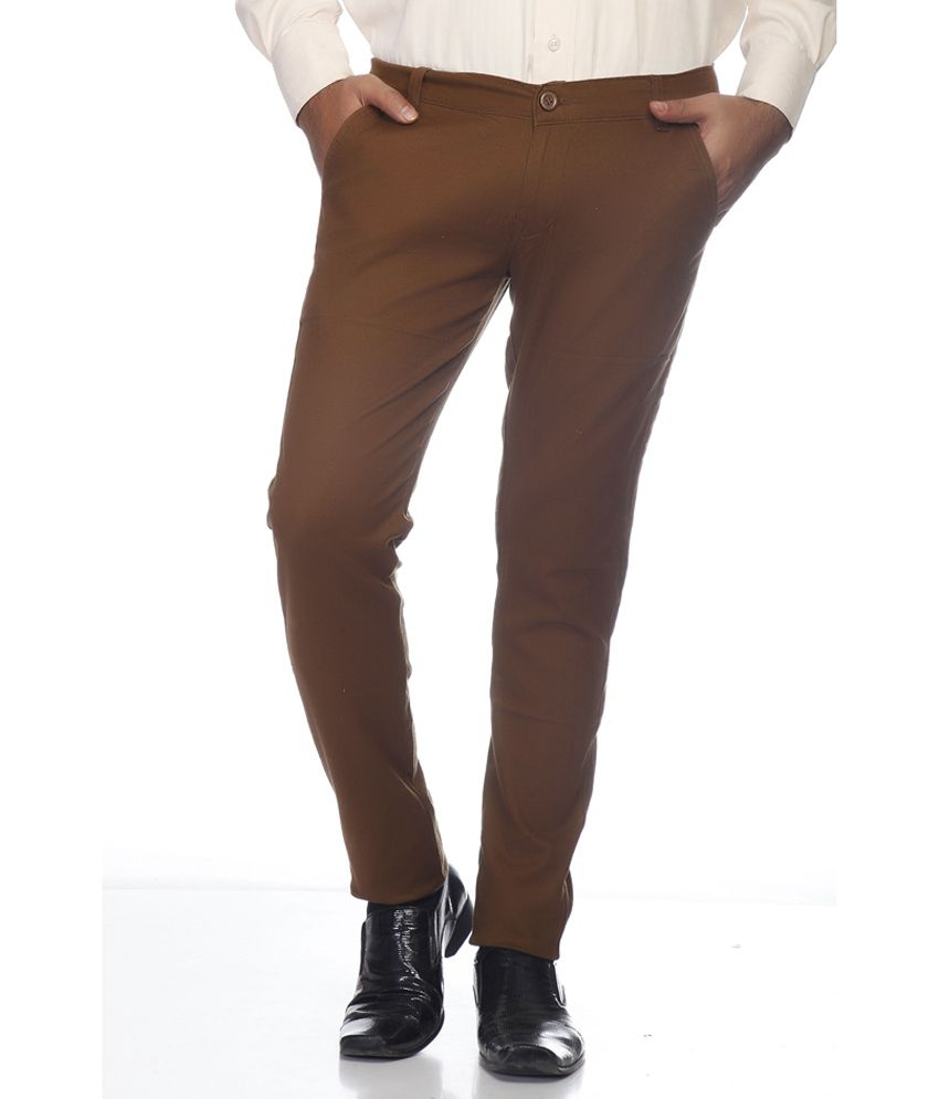 Coaster Brown Slim Casuals Chinos