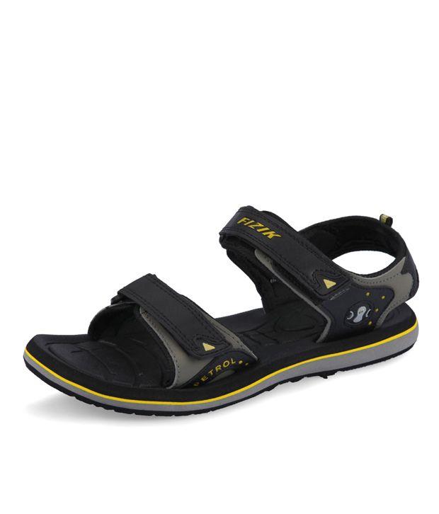 94cdd3acee979 Fizik Black Floater Sandals - Buy Fizik Black Floater Sandals Online at  Best Prices in India on Snapdeal
