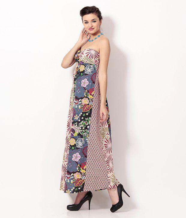 14de8f742 Karishma Multi Color Cotton Maxi Dress Karishma Multi Color Cotton Maxi  Dress ...