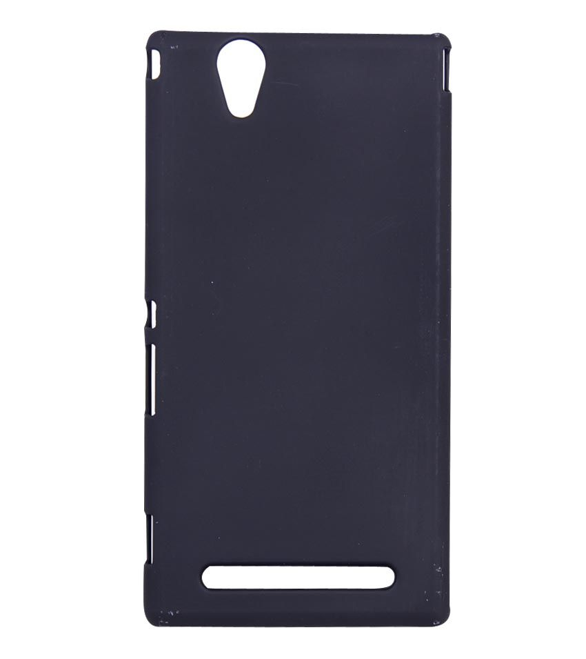 sale retailer 59549 5f3c7 Fuson Premium Rubberised Hard Back Case Cover For Sony Xperia T2 Ultra / T2  Ultra Dual (Black)
