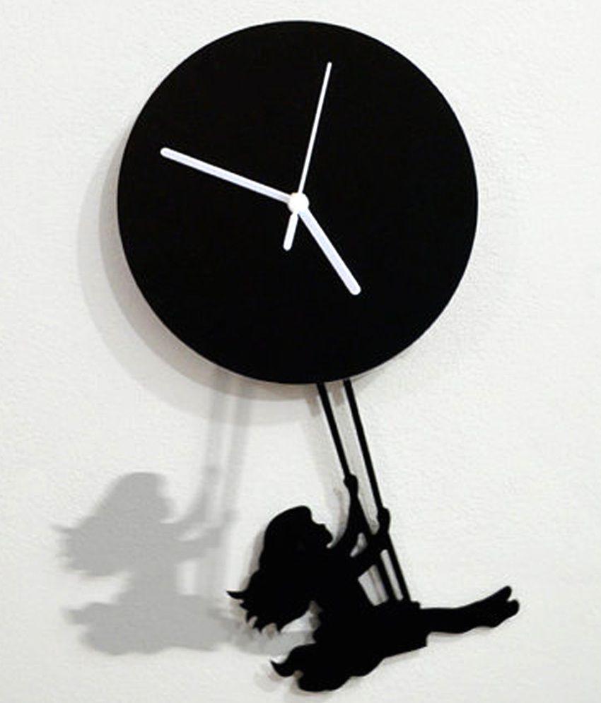 Blacksmith White Silhouette Pendulum Wall Clock