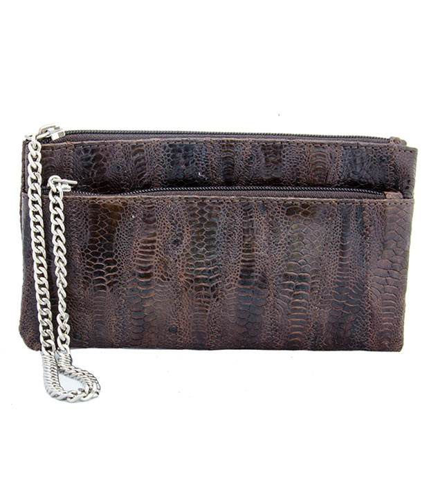 DIPRO Brown Leather Fashionable Women Wallet