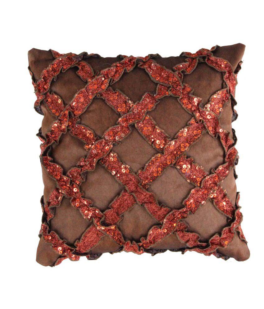 Diamond Frill Bronze Set of 5 Cushion Cover