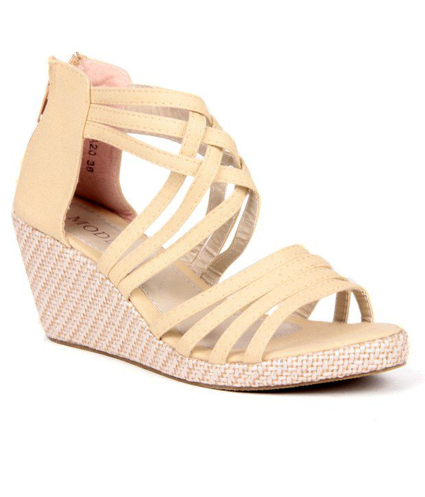 Anand Archies Beige Wedges