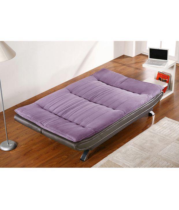 9667a5cc9fb EDO 3 seater sofa cum bed - Purple   Black - Buy EDO 3 seater sofa ...