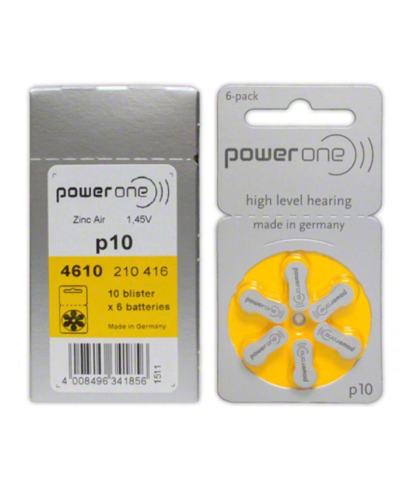PowerOne Hearing Aid Batteries Size P10 (60pcs)