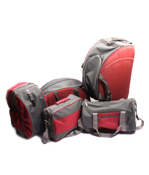 Fidato Maroon & Grey Set Of Travel Bags - Buy Fidato Maroon & Grey ...