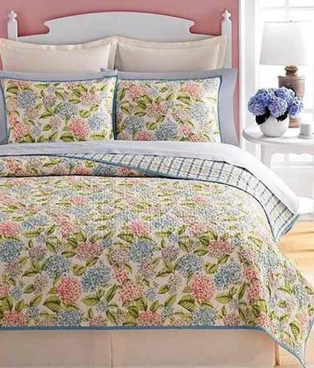 Martha Stewart Hydrangea Blossom Full Queen Quilt Buy