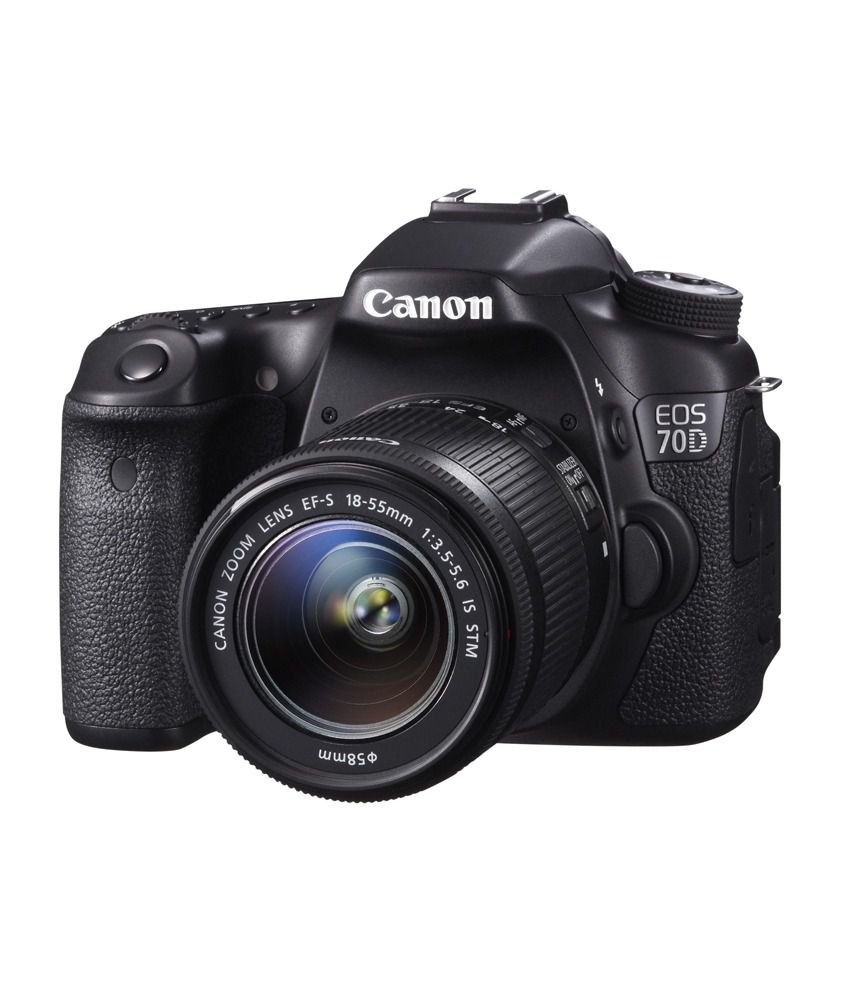 canon eos 70d with 18 55mm lens price in india buy canon eos 70d with 18 55mm lens online at. Black Bedroom Furniture Sets. Home Design Ideas