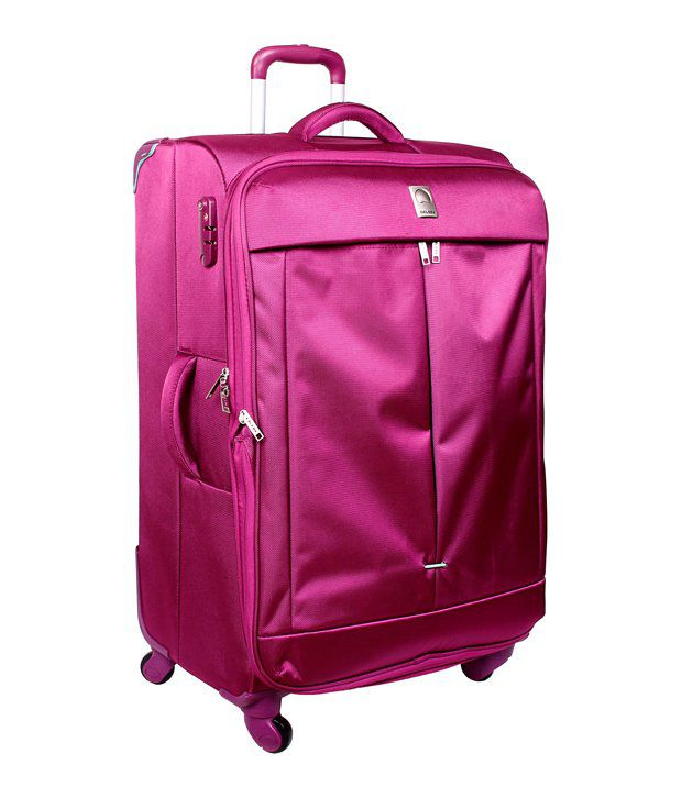 Delsey Pink Flight 4 Wheel Trolley 55 Cm - Buy Delsey Pink Flight ...