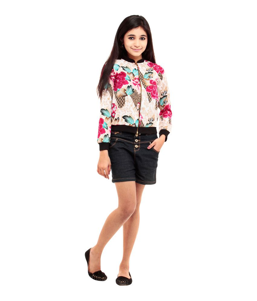 Kiwie Multi Color Jackets For Girls