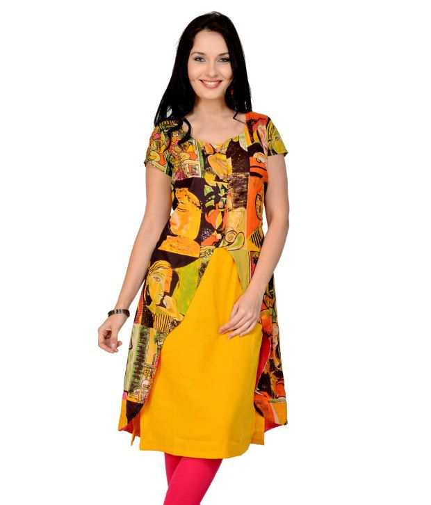 Pannkh Mango Asymmetric Printed Jacket With Inner