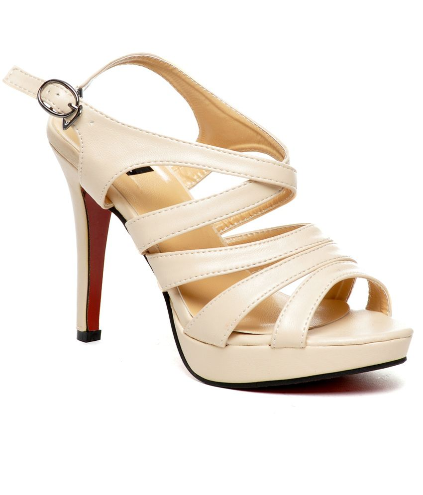 Nell Fab Cream Heeled Sandals