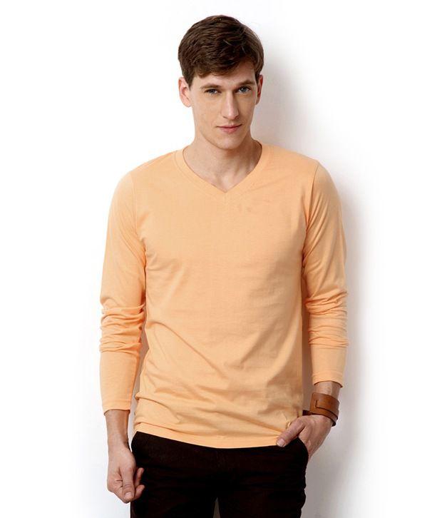 Street Junkies Light Orange Full Sleeve T-Shit
