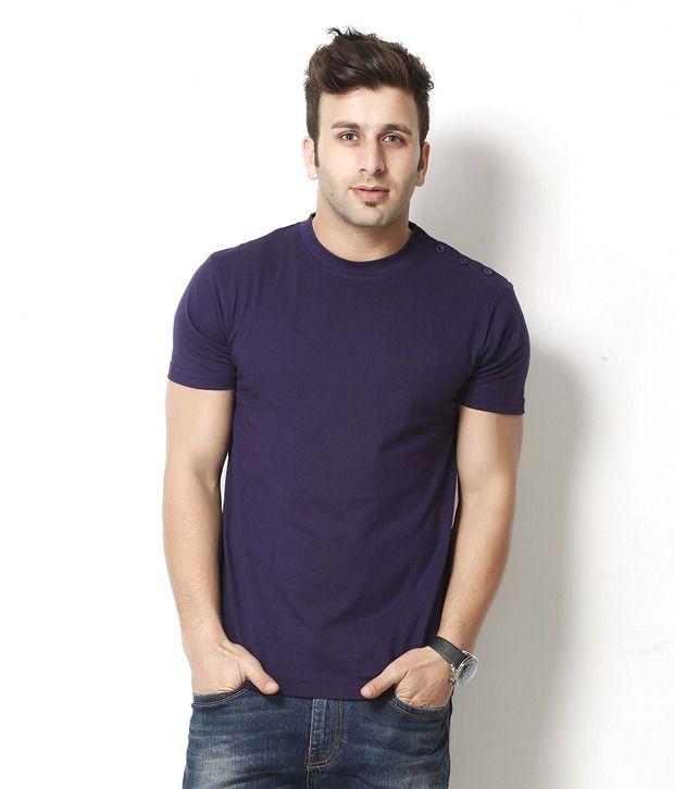 Gritstones Classy Purple Round Neck T Shirt