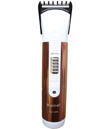 Kemei KM-029 Trimmer White and Brown