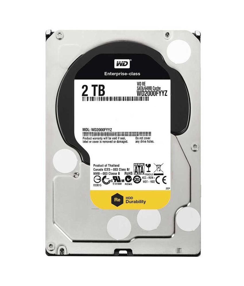 Western digital re wd2000fyyz 2tb 7200 rpm 64mb cache internal hard
