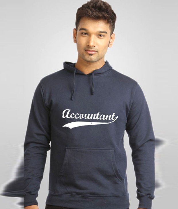 Campus Sutra Blue Accountant Sweatshirt