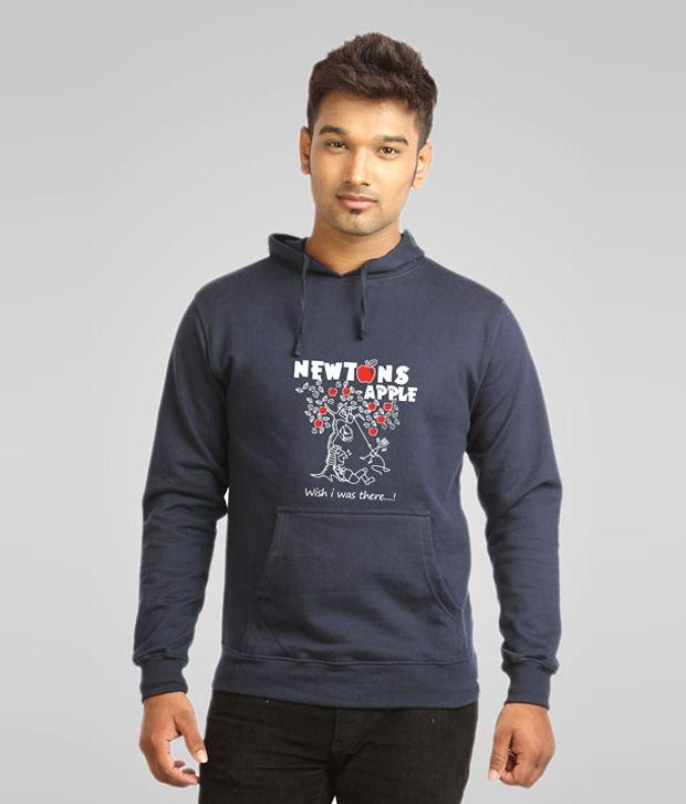 Campus Sutra Blue Newton Apple Sweatshirt