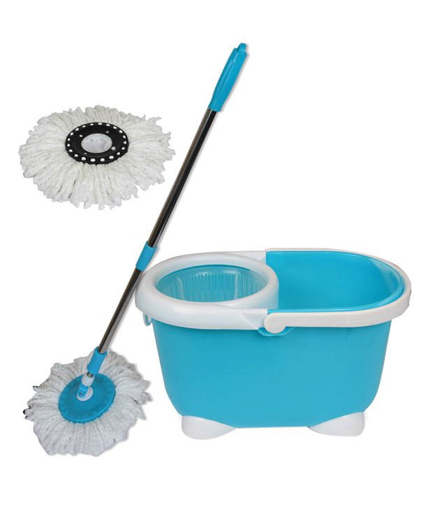Urban Living Home Smart Blue Revolving Mop With Bucket