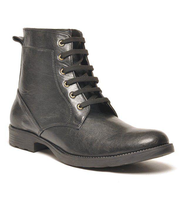 Mokassin Elegant Black  Boots